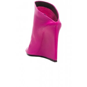 Hot Pink Heeled Wedges Open Toe Mules US Size 3-15