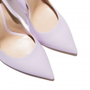 Light Purple Pointy Toe Stiletto Heels Pumps Office Shoes