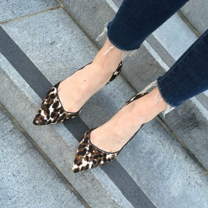 Women's Suede D'orsay Pumps Leopard Print Heels Stiletto Heels Shoes