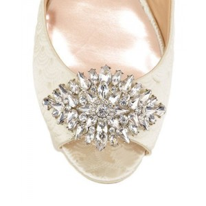 Women's White Bridesmaid Flats Crystal Decorated Bridal Shoes