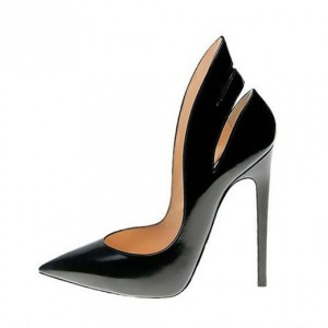 Black Office Heels 4 Inch Stilettos Pumps for Office Ladies