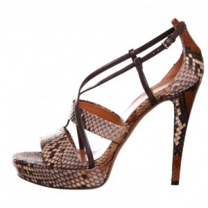 Doris Brown Ankle Strap Sandals