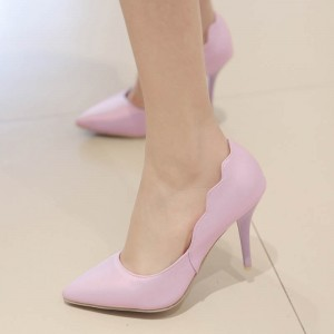 Light Purple Curves Romantic Pointed Toe Stiletto Heel Pumps