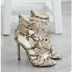 Python Stiletto Heels 3 Inch Heel Sandals