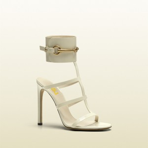 Women's White Open Toe Buckle Stiletto Heel Ankle Strap Sandals Shoes
