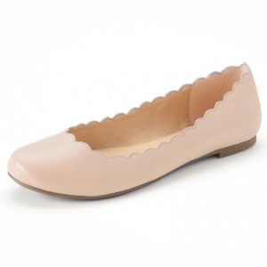 Women's Blush Commuting Round Toe Comfortable Flats