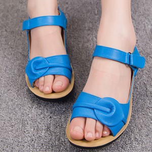 Women's Blue Sandals Comfortable Flats