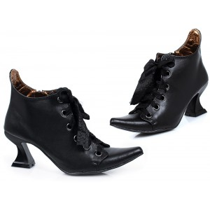 Witch Lace up Boots Pointy Toe Ankle Boots for Halloween