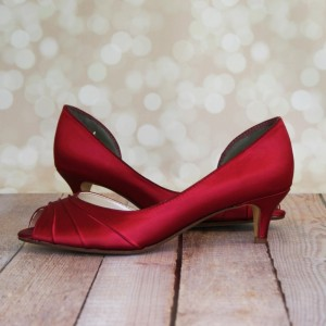 Women's Cute Red Peep Toe Stiletto  Heels Pumps