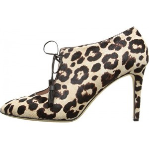 Women's Lace Up Stiletto Heel Leopard Print Boots