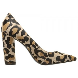 Women's Low-cut Uppers Block Heel Leopard Printed Pumps