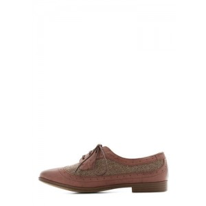 Pink Lace-up Vintage Women's Oxfords& Brogues