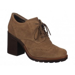 Brown Non-slip Lace-up Vintage Shoes Women's Brogues