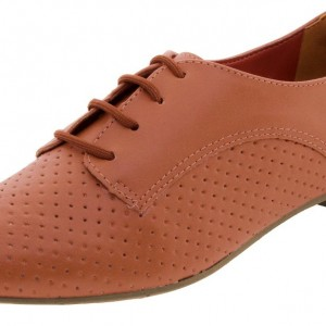 Women's Orange Vintage Oxfords Lace Up Comfortable Flats