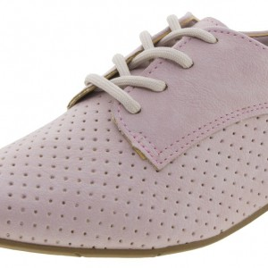 Pink Comfortable Vintage Flats Women's Oxfords& Brogues