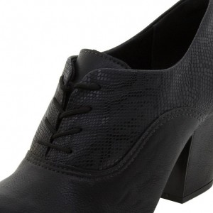 Black Lace-up Python Vintage Shoes Women's Brogues