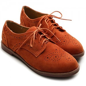 Orange Comfortable Vintage Shoes Women's Oxfords& Brogues