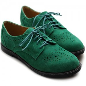 Green School Shoes Vintage Oxfords Lace up Comfortable Shoes 2017