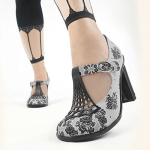Spider Web Women's Mary Jane Pumps Vintage Heels