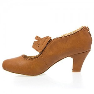 Brown Mary Jane Pumps Low-cut Uppers Vintage Shoes