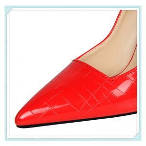 Women's Red Classic Pointy Toe Commuting Stiletto Heel Pumps 4 Inch Heels