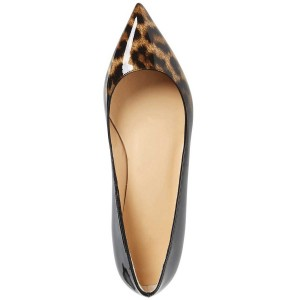 Pointy Toe Leopard-Pattern Flats