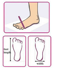 how to measure foot width