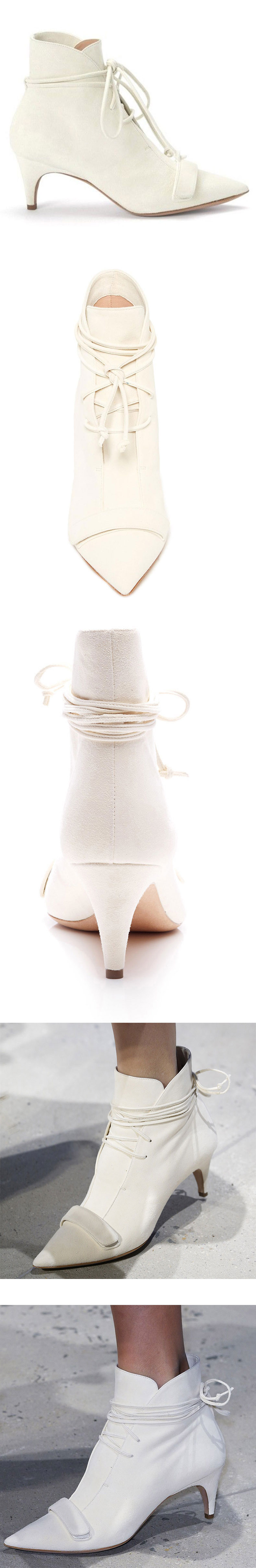 9327a3b65f1f6 Beige Fashion Boots Kitten Heel Pointy Toe Strappy Ankle Booties for ...